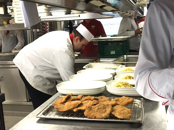 Viking River Cruise lunch prep