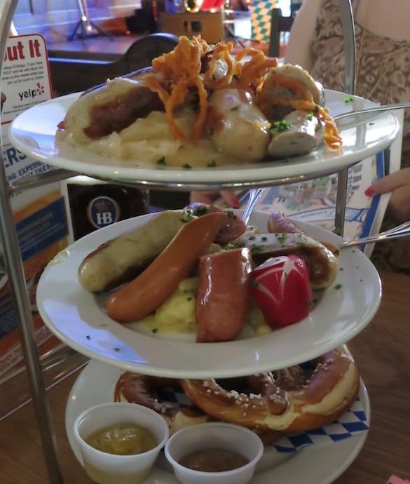Tasty German favorites at the Hofbrauhaus in Rosemont