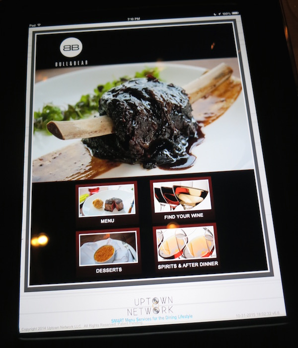Bull and Bear IPad Menu