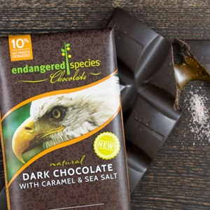 Dark Chocolate with Caramel & sea Salt Endangered Species