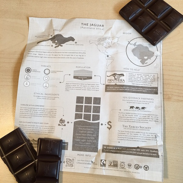 Endangered Species Chocolate Inside Wrapper