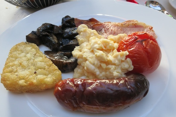 English Breakfast at Rothay garden