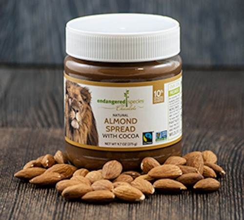 Natural Almond with Cocoa Spread Endangered Species Chocolate