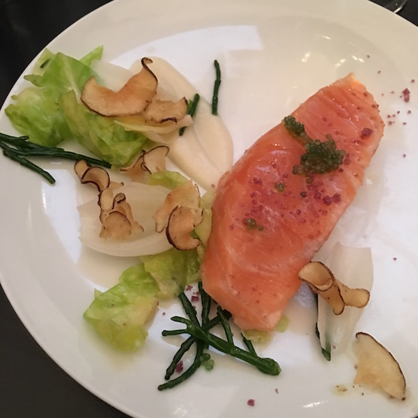 Salmon at Pierre Sang in Paris 10 Terrific Food Travel Experiences in Paris
