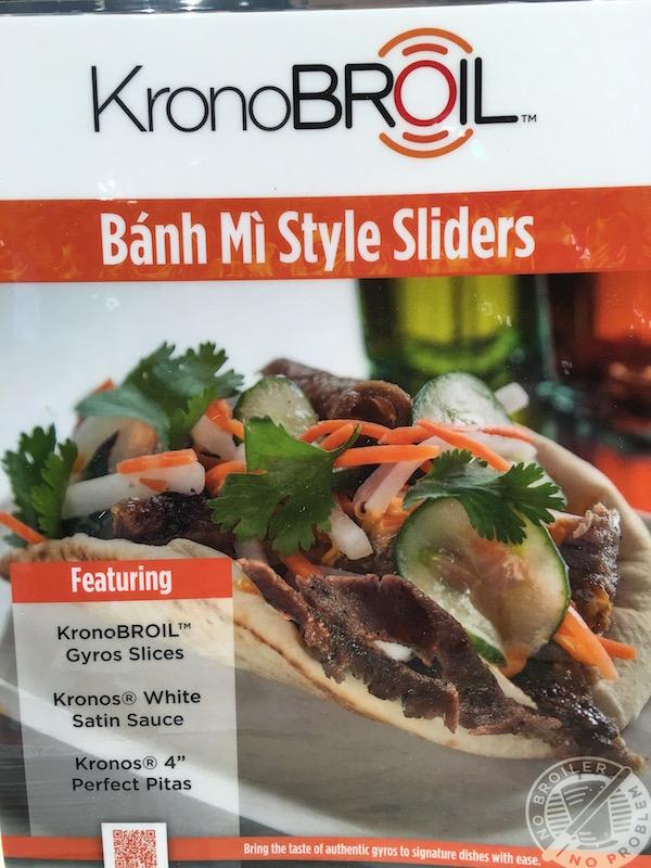 KronoBroil Banh Mi Style Sliders