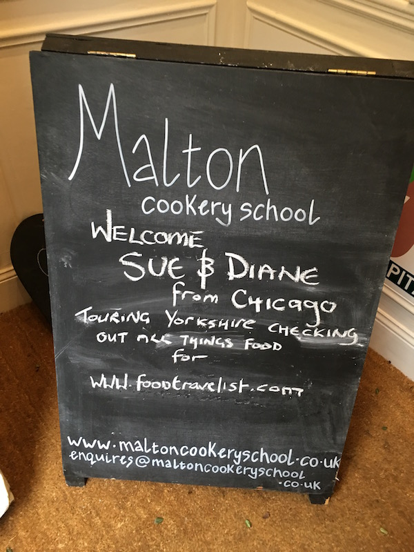 Malton Cookery School Welcomes Food Travelist