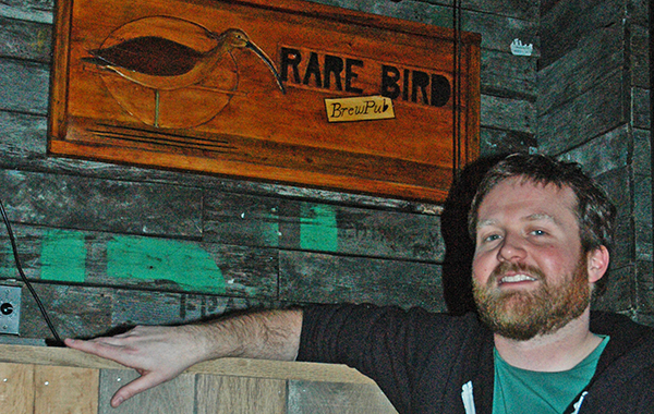 Nate Crane of Rare Bird Brewpub. Photo courtesy of Traverse City Tourism.