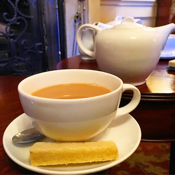 Tea and Biscuits at the Talbot Hotel in Malton