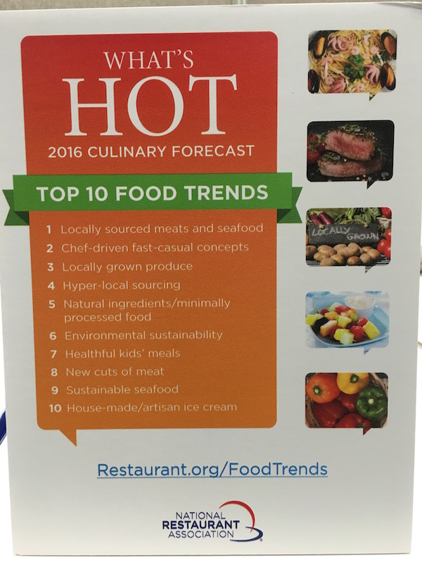 top 10 food trends NRA 2016