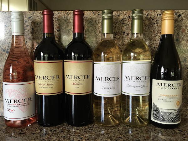 Mercer Wines Wine Tasting