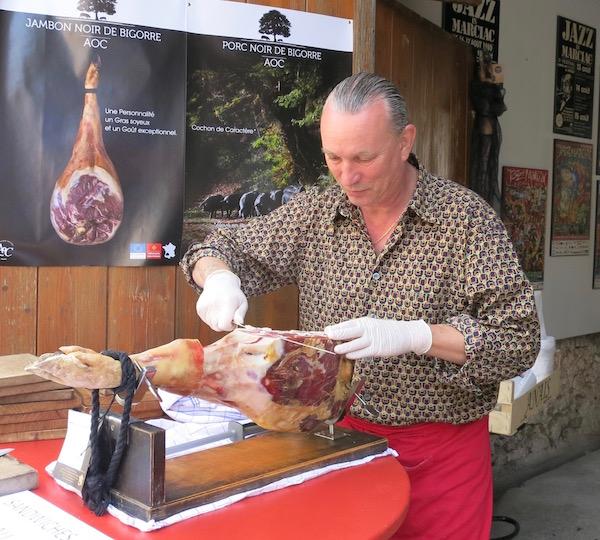 Magical Marciac Slicing Pork Noir JGo Restaurant