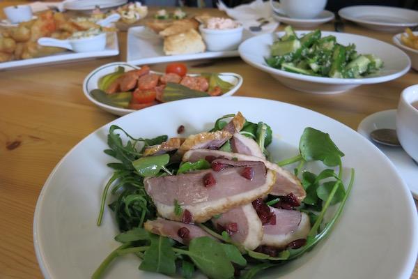 Lots to eat at Kilnsey Park Cafe
