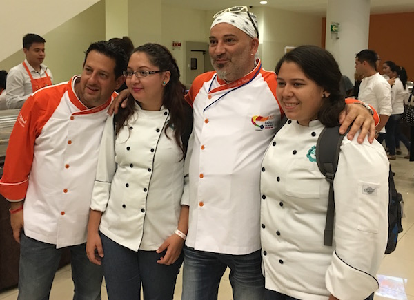 Chef Silvano De Paola from Milan, Italy with students at Culinary Roots