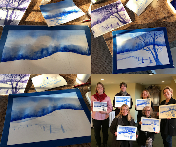 Art class at the Goldmoor Inn Galena