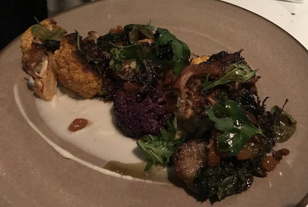Roasted Cauliflower entree Georges on the Cove