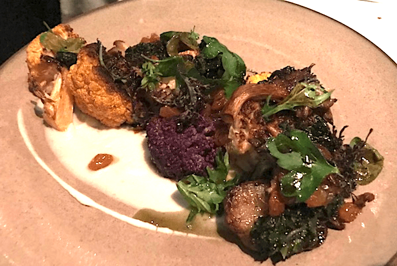 Roasted Cauliflower entree at George's At The Cove La Jolla