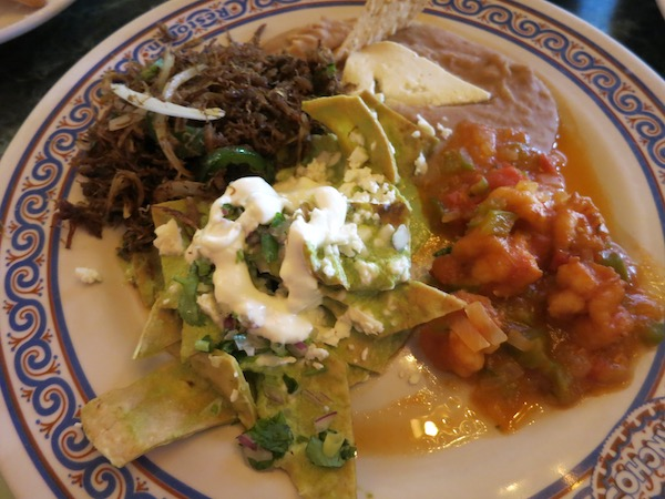 Chilaquiles at Los Panchos Mazatlan