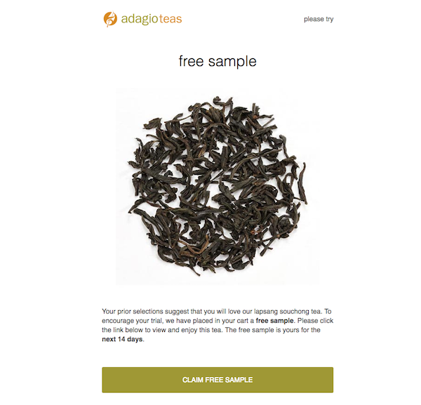 Free Sample Adagio Teas