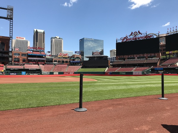 St. Louis Cardinals Busch Stadium on the field