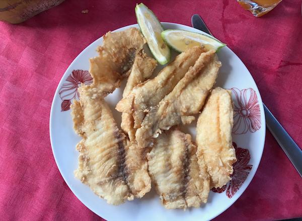 Fried Fish From Roadside Cuban Restaurant
