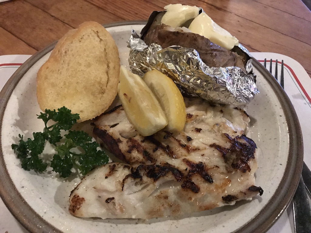 Grilled grouper at the Fourth Street Grill in St. Petersburg Florida