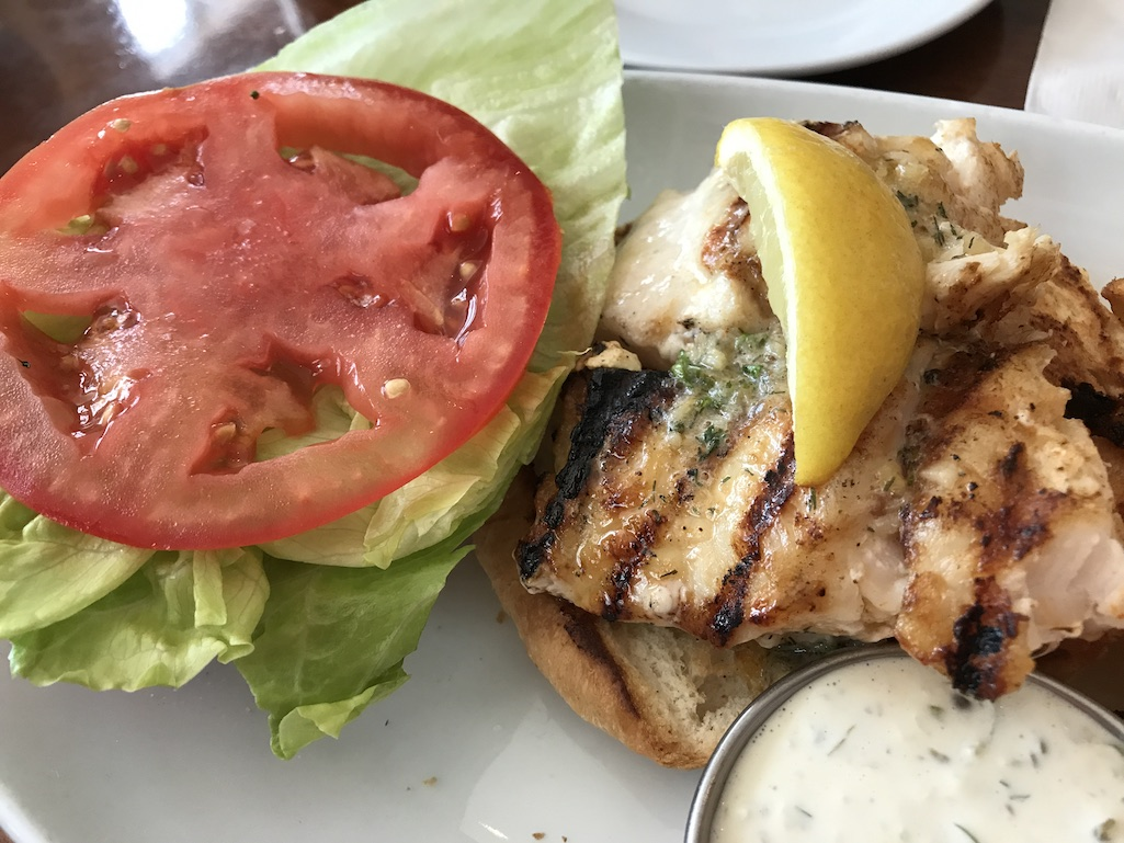 Grouper Sandwich 400 Beach Seafood St. Petersburg FL