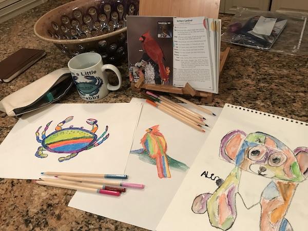 Rainbow drawings