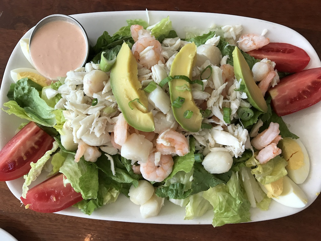 Seafood salad 400 Beach Seafood and Tap House