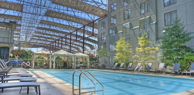 Outdoor pool at the Union Station Hotel in St. Louis