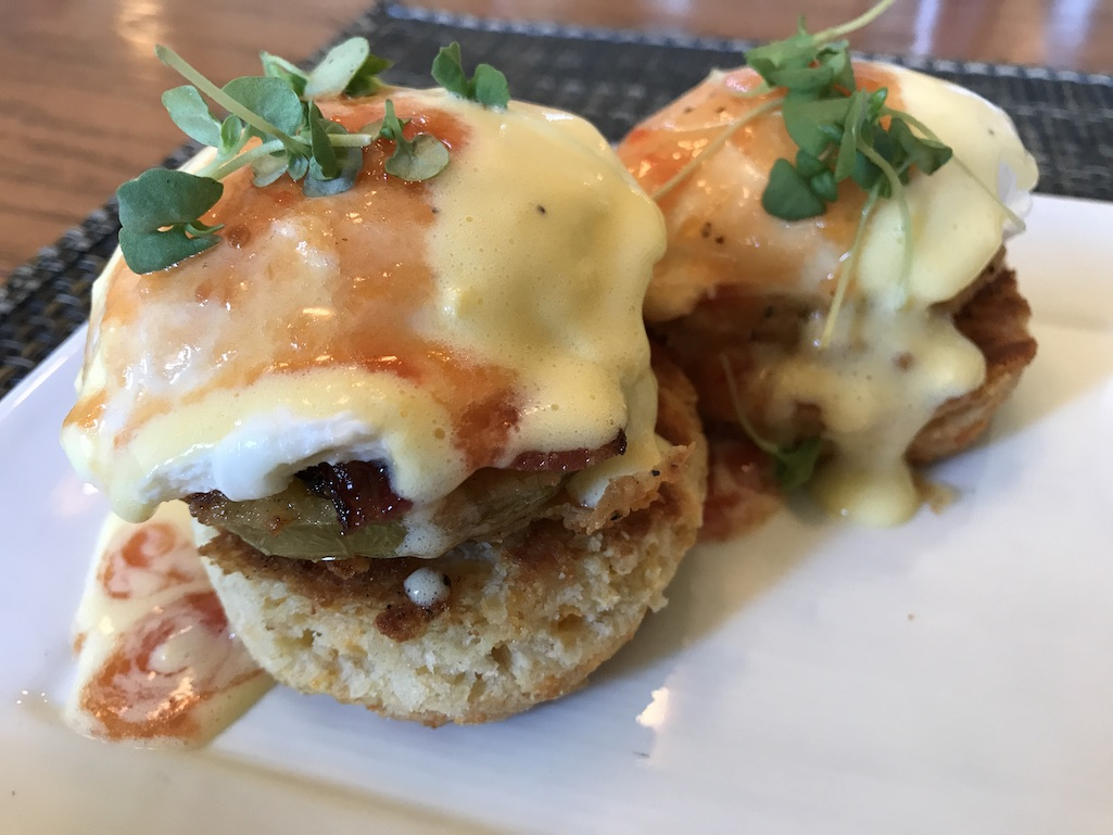 Eggs Benedict at the Union Station Hotel restaurant