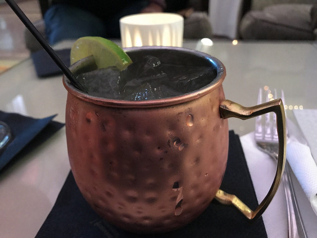 Moscow Mule in the Grand Hall at the Union Station Hotel