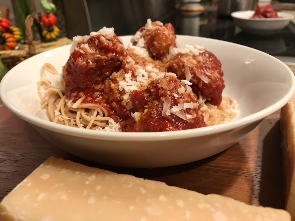 Spaghetti and Meatballs with Parmigiano Reggiano