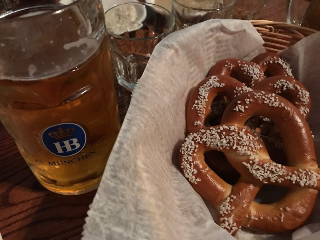 Essen Haus Madison WI Beer and Pretzel