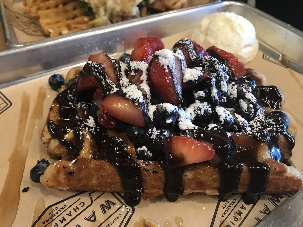 Best Breakfast Around the World Liege Style Belgian Waffle at Waffle Champion OKC