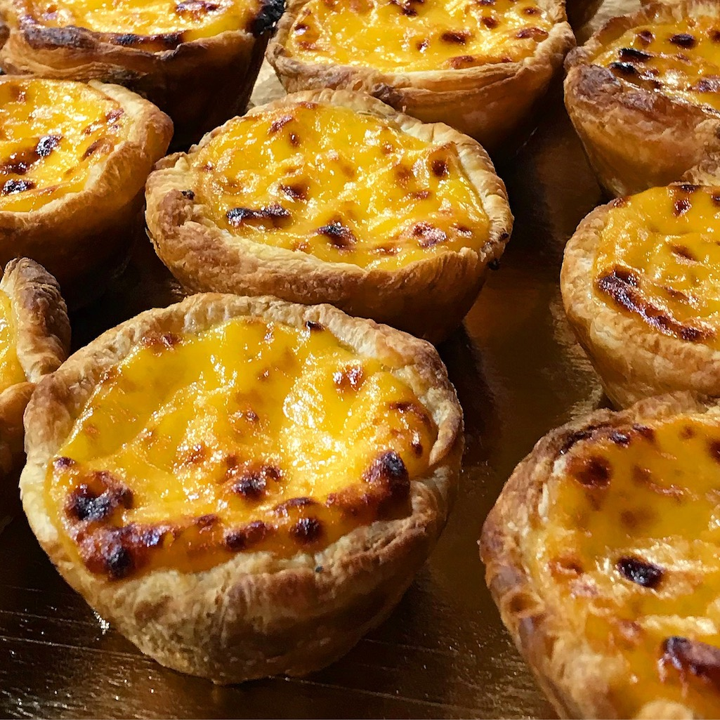 Pastel de nata egg tarts in Portugal