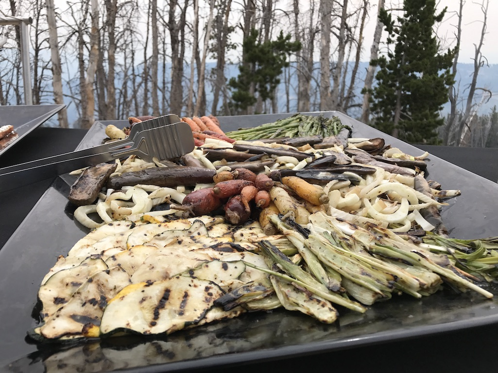 Roasted Veggies on the way to the Lone Peak in Big Sky Resort