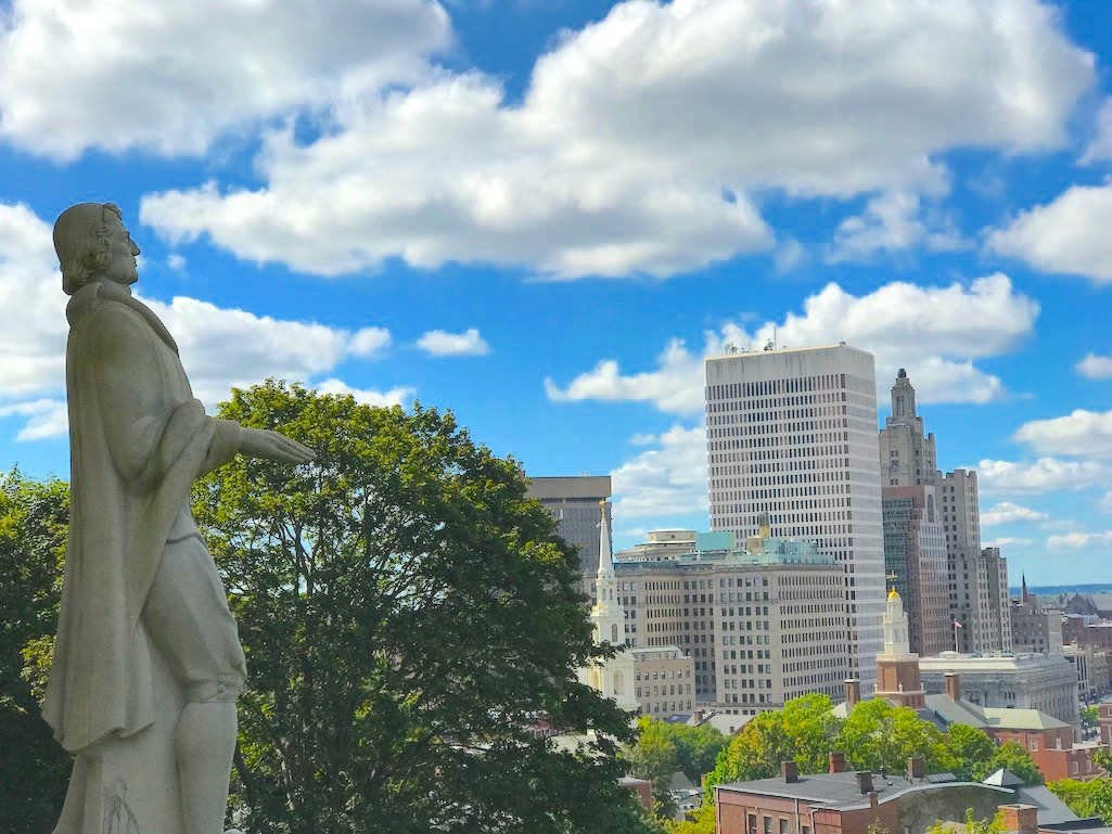 Roger Williams Overlooking Providence