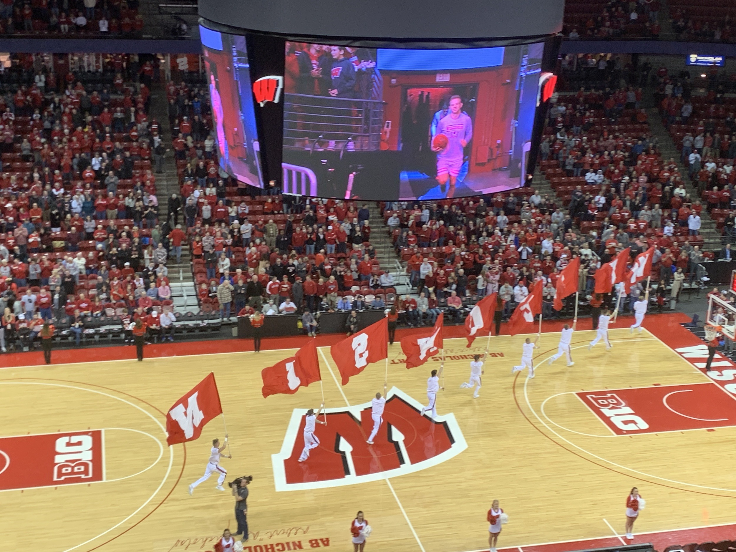 UW Madison Badgers Basketball at Kohl Center