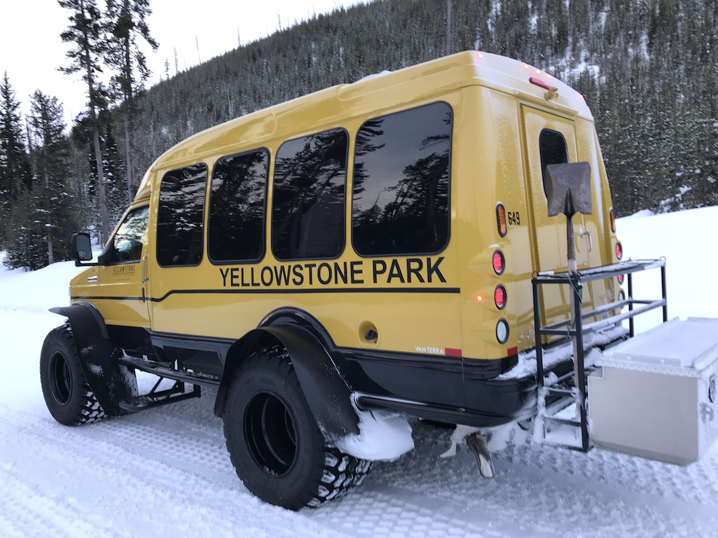 Snow Coach in Yellowstone Park