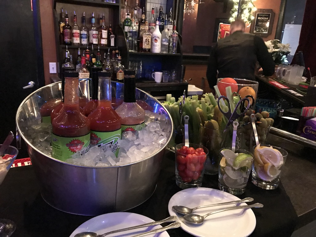 Bloody Mary Bar at The Boom