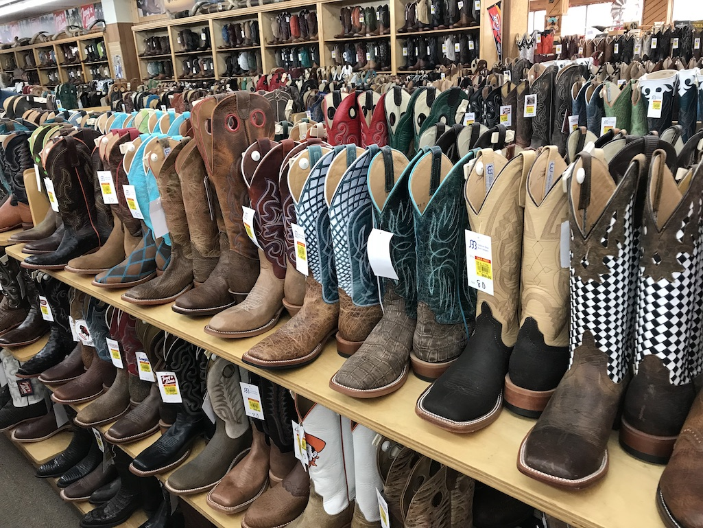 Cowboys boots at Langston's Western Wear Stockyards City OKC