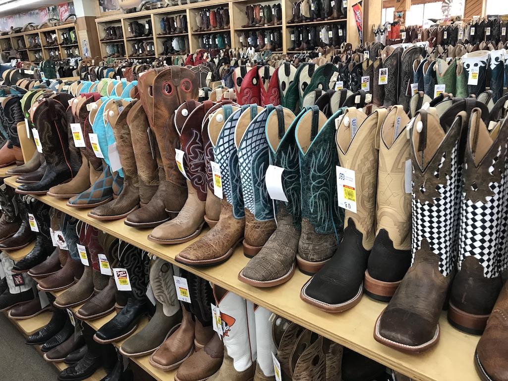 Cowboys boots at Langston's Western Wear Stockyards City OKC