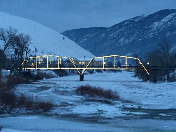 Lighted Bridge Missoula Food Travelist