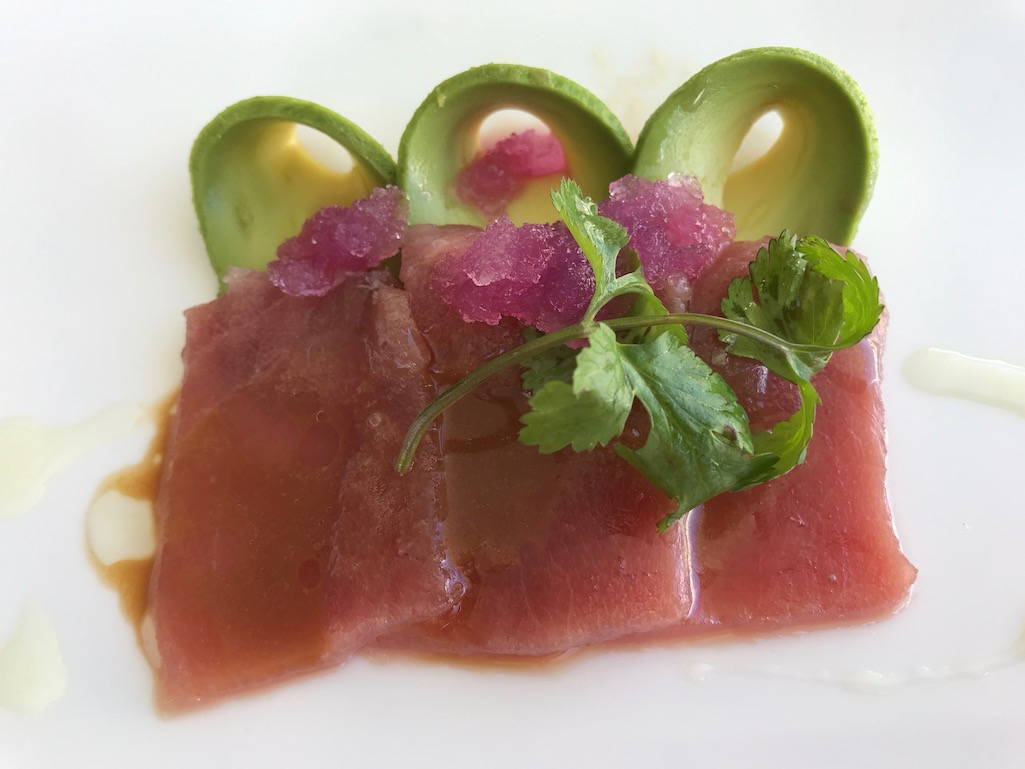 Fresh tuna at Blue Marlin Ibiza ME Hotel Tuna Los Cabos