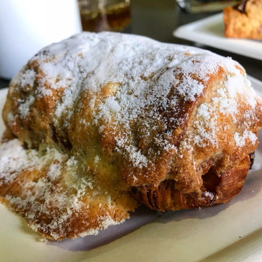 Chocolate almond croissant The Grateful Table in Roseville