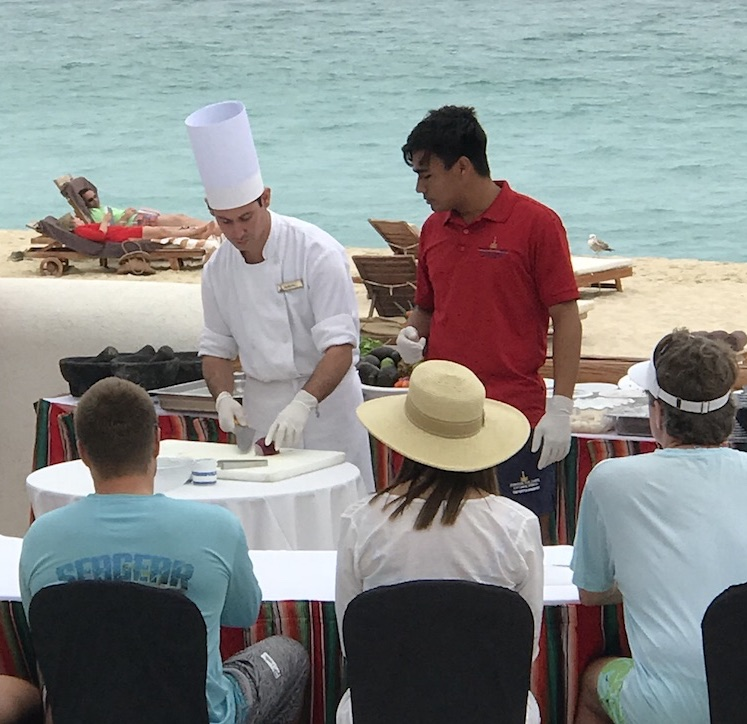 Cooking classes on the beach Marquis Los Cabos