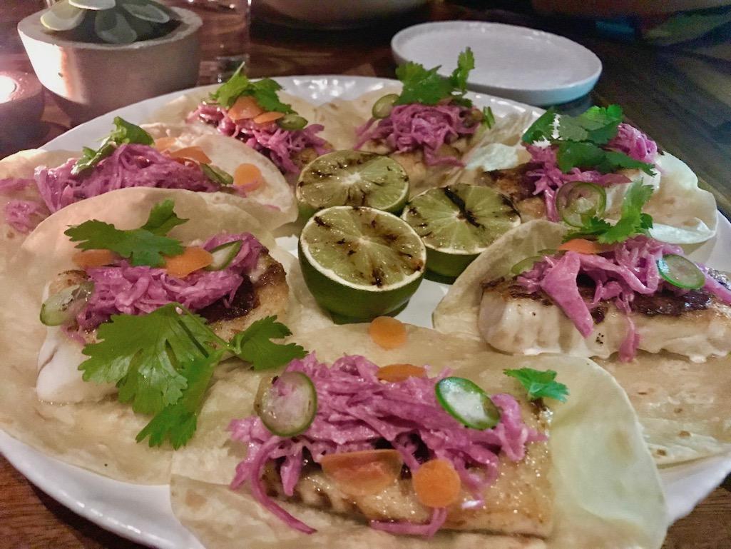 Fish tacos Manta Restaurant