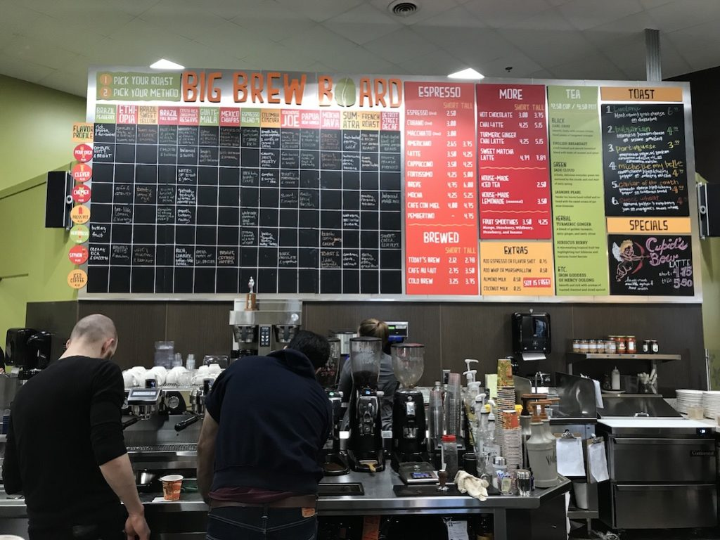 Zingermans Coffee Bar Big Brew Board