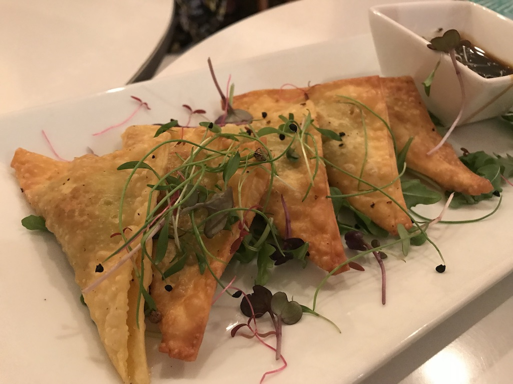 Edamame Wontons at Uptown Eatery restaurants in St. Croix