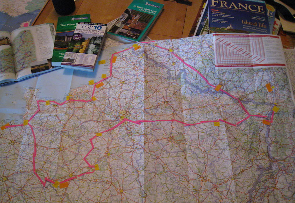 France Road Trip Map